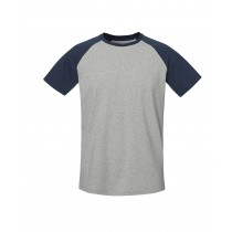 Baseball Short Sleeve - Heather Grey / French Navy